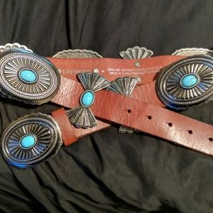 Nwt Express leather and faux turquoise belt!